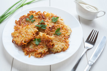 Potato and Carrot Latkes