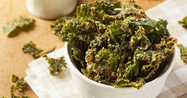 Spicy-Sweet Kale Chips