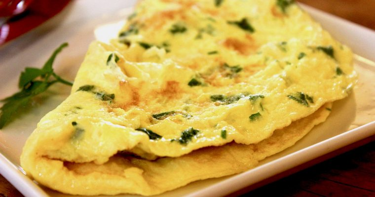 Three-minute Herb and Goat Cheese Omelet